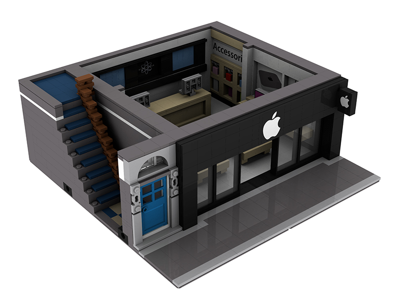 LEGO MOC 0696 Apple Store Modular Buildings 2013  : appst4 from www.rebrickable.com size 800 x 600 jpeg 176kB