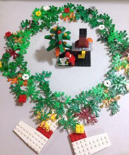 2012 Christmas MOCs Wreath