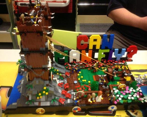 'Theme Park' MOC night Flying_viking