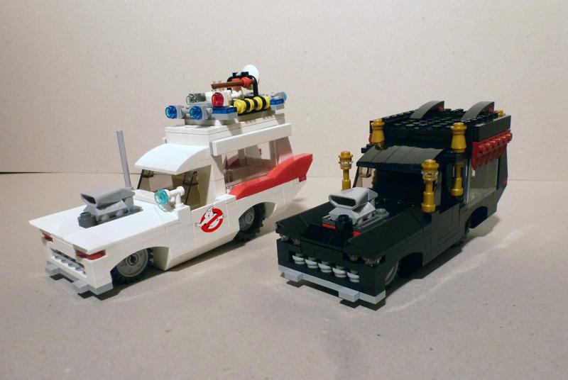 moc ecto 1 ghostbusters ex hearse icecream truck. Black Bedroom Furniture Sets. Home Design Ideas