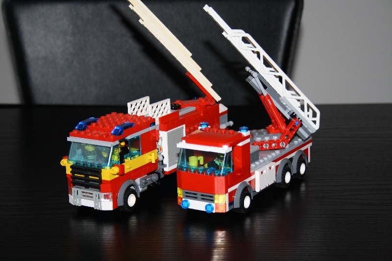 Moc Lego City Fire Engine And Hose Tender Trailer Lego