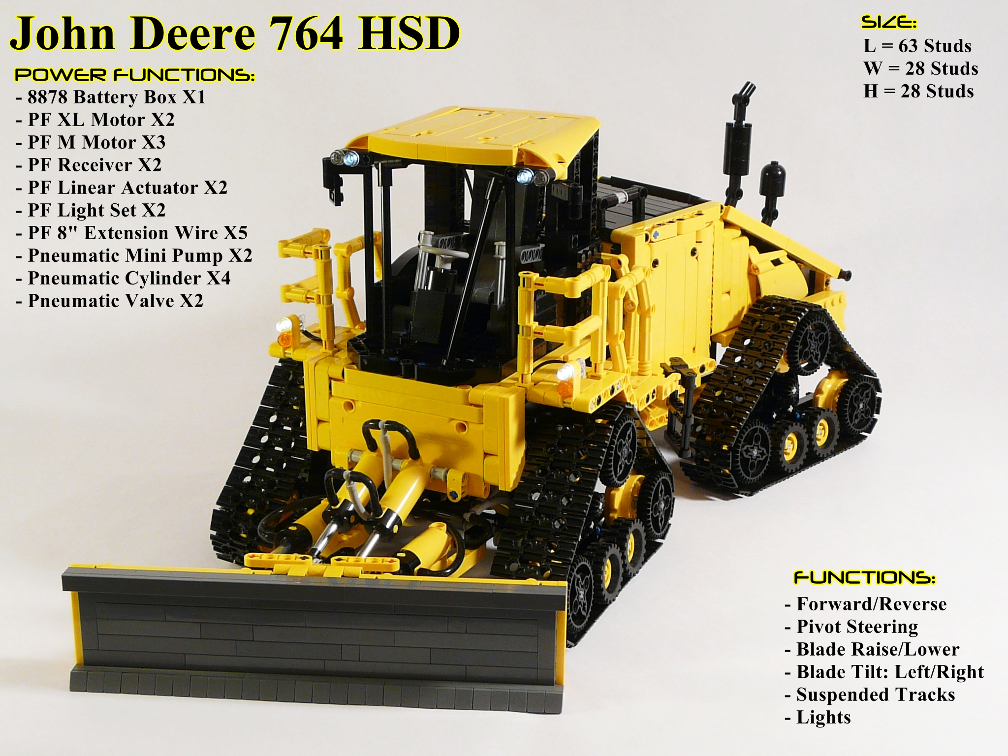 Awesome John Deere High Speed Dozer by Coney - LEGO Technic