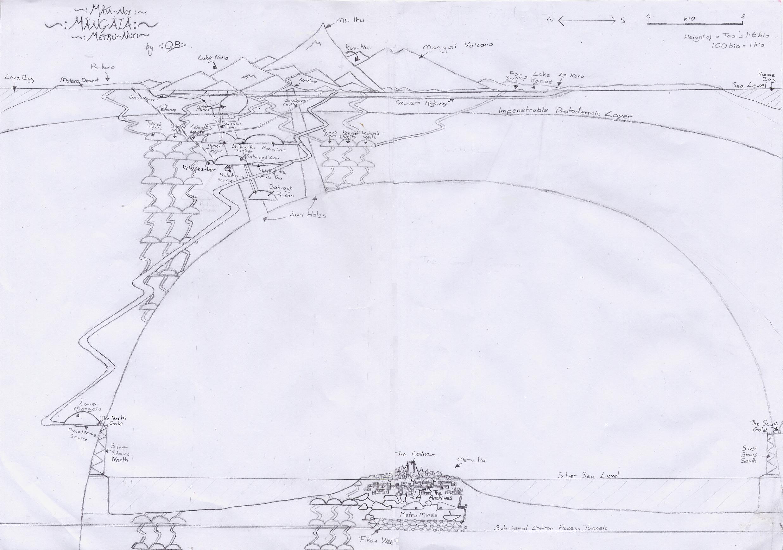 [Fan-Arts] Carte schématique en coupe de Mata Nui, Mangaia et Metru Nui  Mata_nui_underground_scale_2