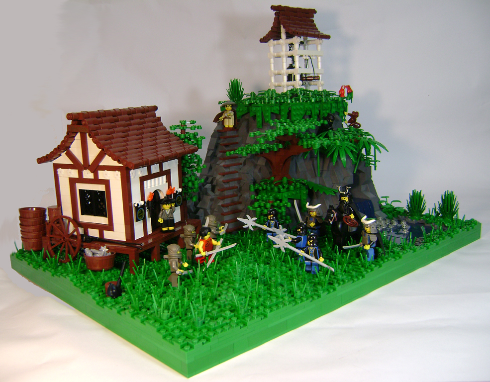 Dans Lego Castle Blog Ninja Showdown At A Japanese Tea House