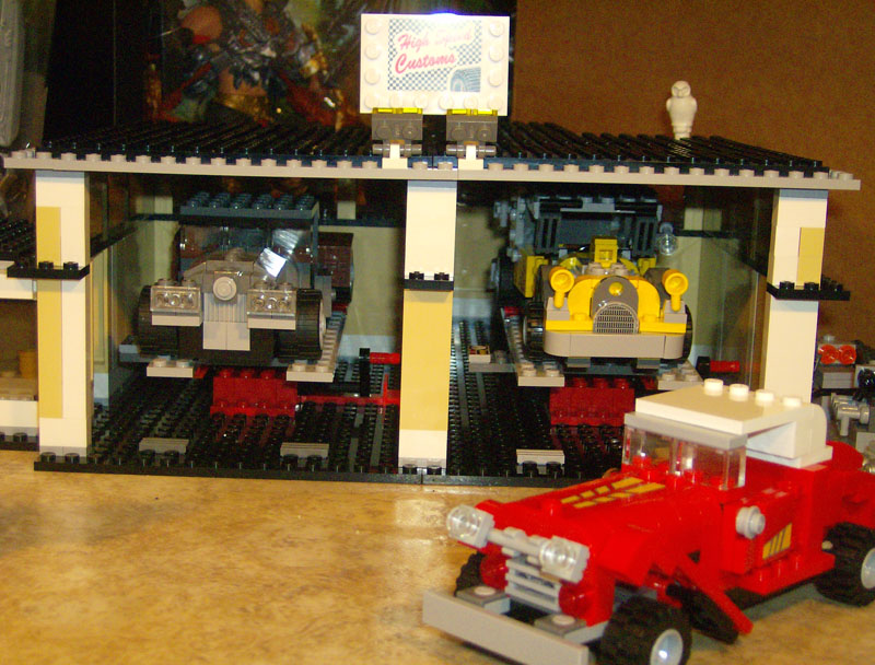 Moc american muscle cars and classics lego town for American classics garage