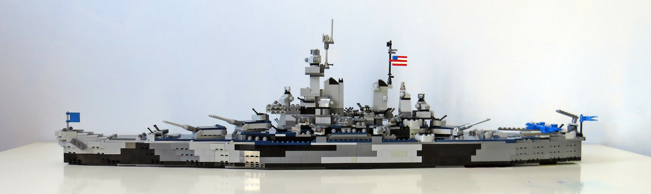 Battleship Missouri Above View After Building The