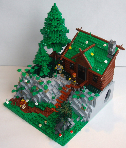 Moc Rocky Mountain Log Cabin Lego Historic Themes