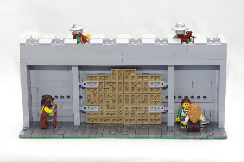 MOC: Castle Wall 03