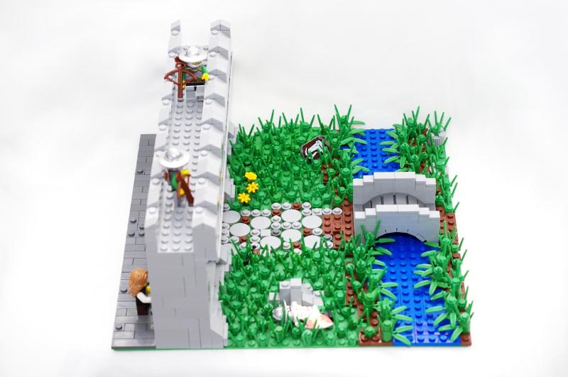 MOC: Castle Wall 05
