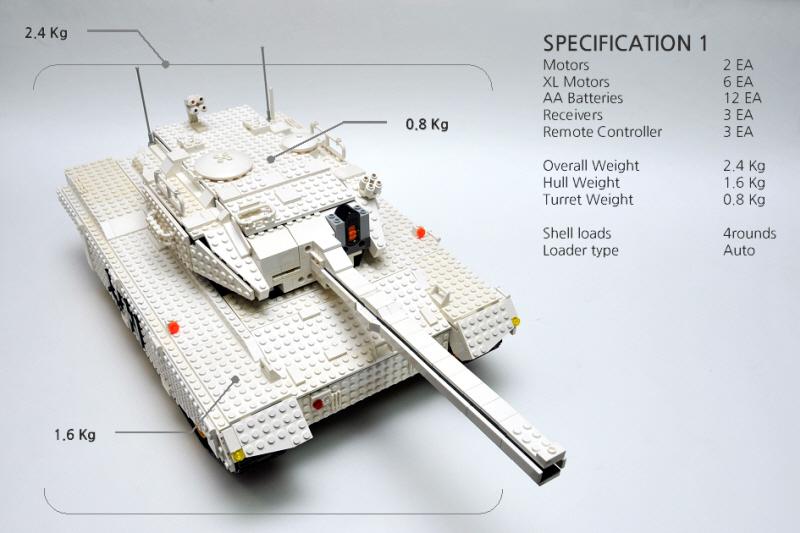 Gyuta Ks Lego Auto Loading Rc Tank White Tiger Lego Technic And