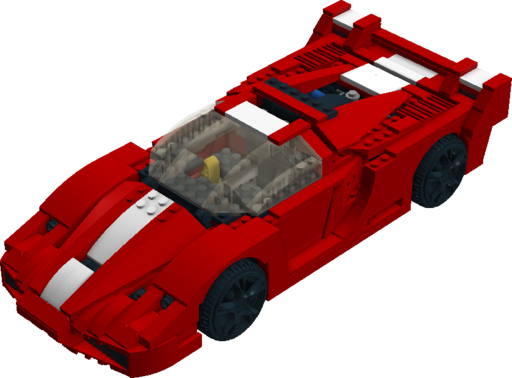 Modified 2 x 2 with Red Wheels /& Black Tires // Offset Tread LEGO Brick X2