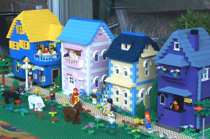 pink LEGO house
