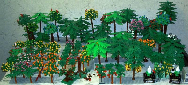 tiefer Modellbahn-Wald