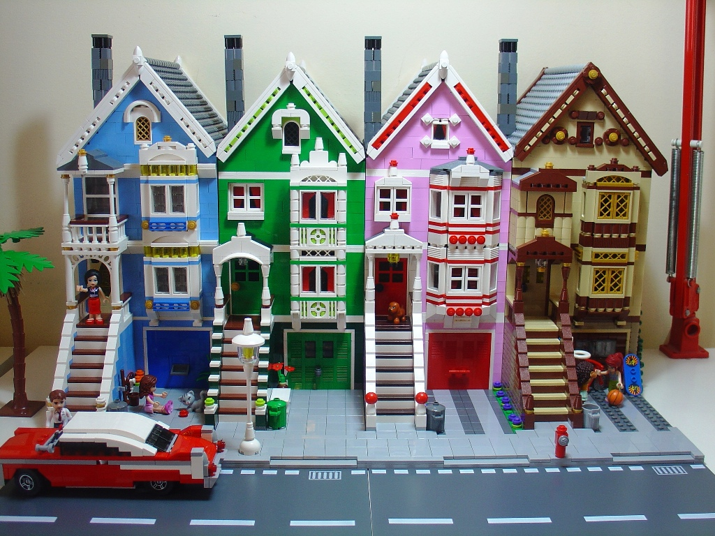Victorian LEGO Houses  Crafthubs - Lego house interior