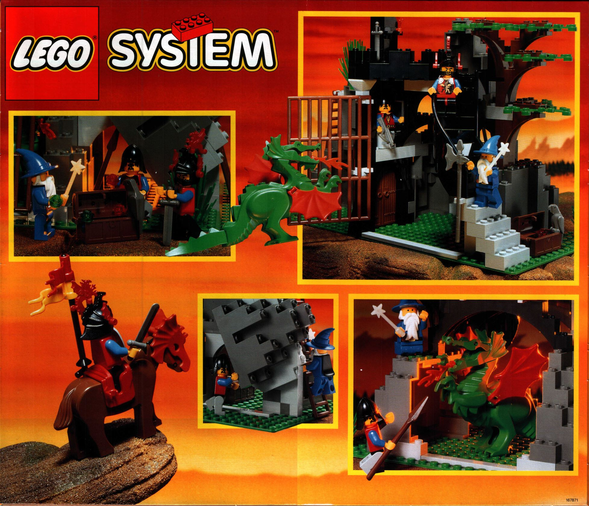 lego system set 6076 dark dragon 39 s den drachenh hle ba komplett. Black Bedroom Furniture Sets. Home Design Ideas
