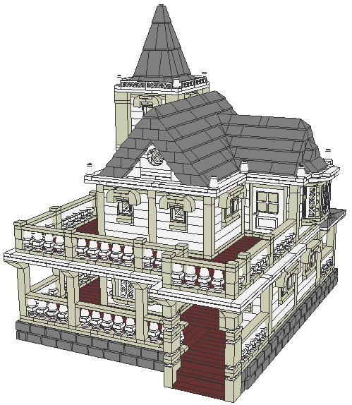 victorian house. victorian house with