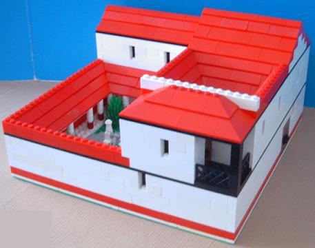 Roman villa model house