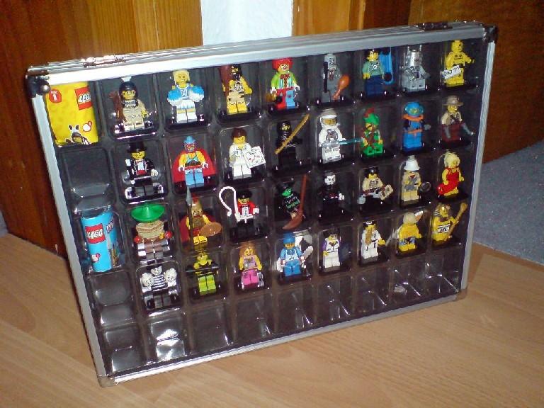 aufbewahrung der lego minifig sammelfiguren. Black Bedroom Furniture Sets. Home Design Ideas