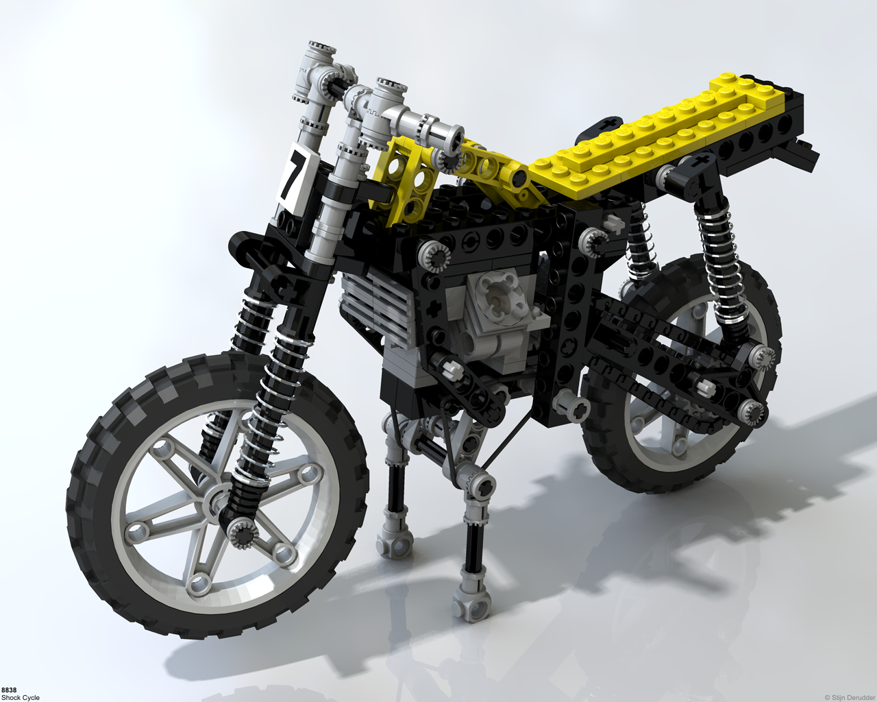 lego technic motorcycles 8838 shock cycle. Black Bedroom Furniture Sets. Home Design Ideas