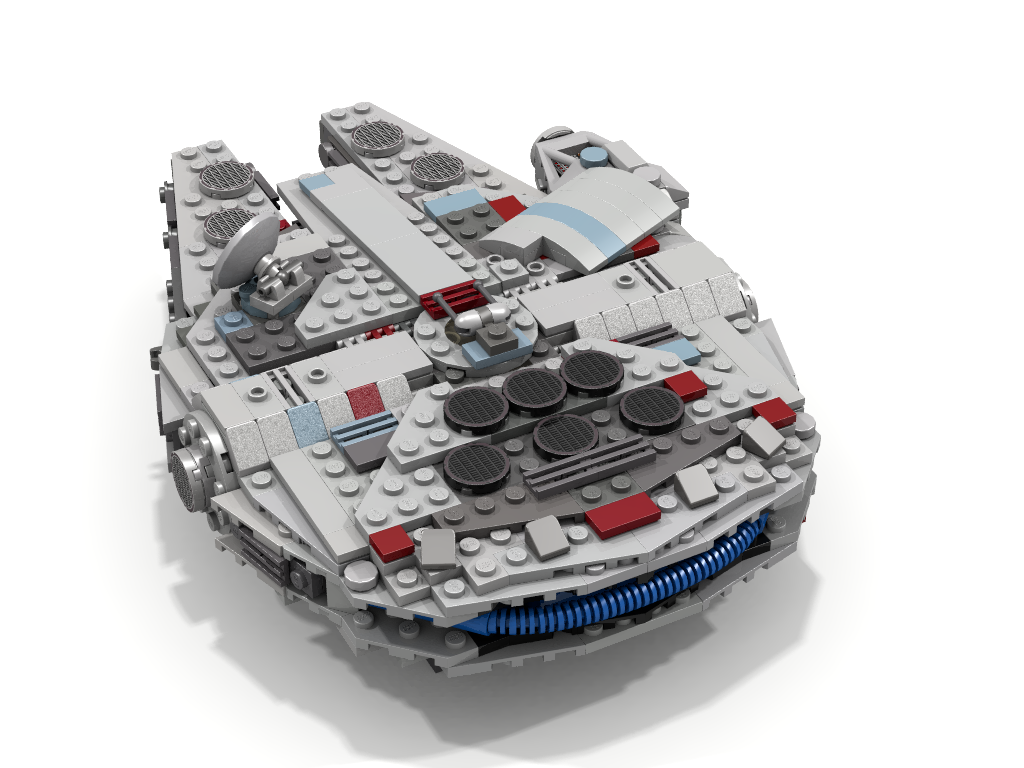 MOC] Mid-Scale Millennium Falcon with interior - LEGO Star