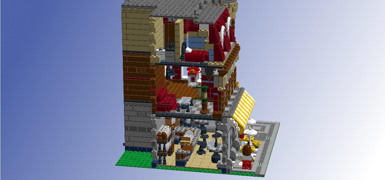 LEGO Ideas Interior For 10182 Caf Corner