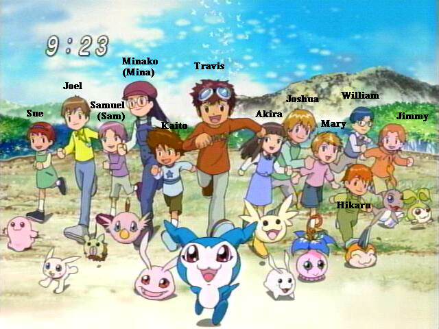 digimon all characters names
