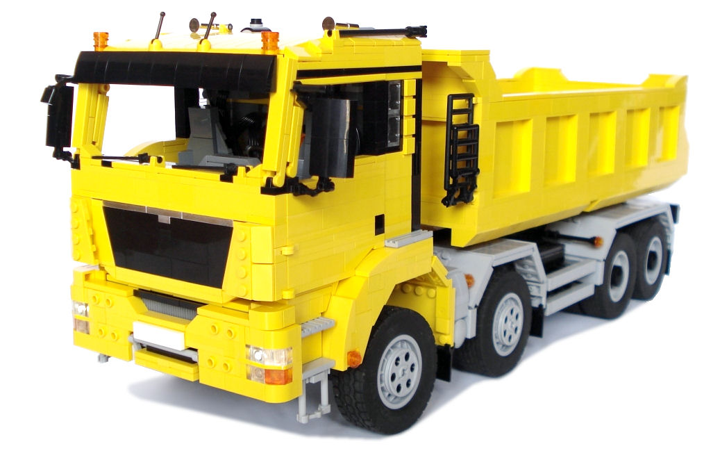 m longer 39 s lego creations man tgs 8x4 dump truck with. Black Bedroom Furniture Sets. Home Design Ideas