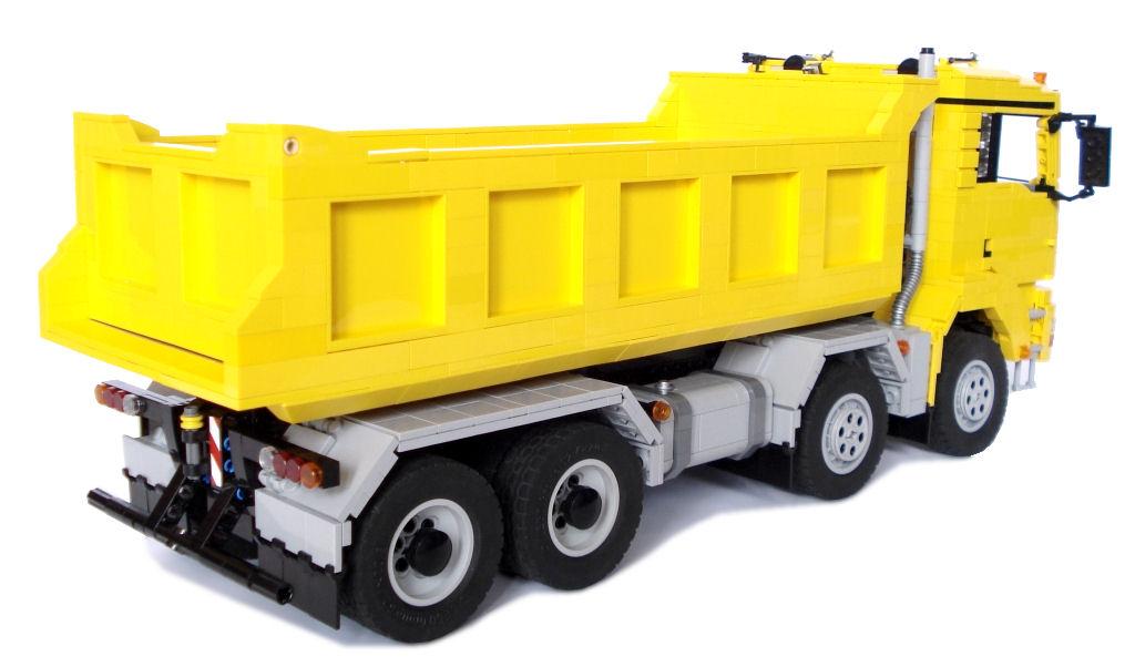 Mlongers Lego Creations Man Tgs 8x4 Dump Truck With Trailer