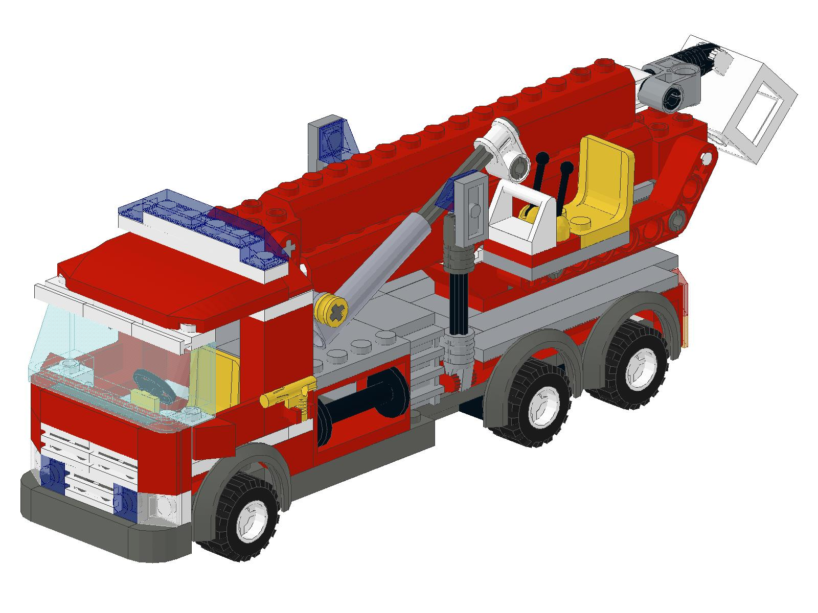 lego fire truck instructions 7942