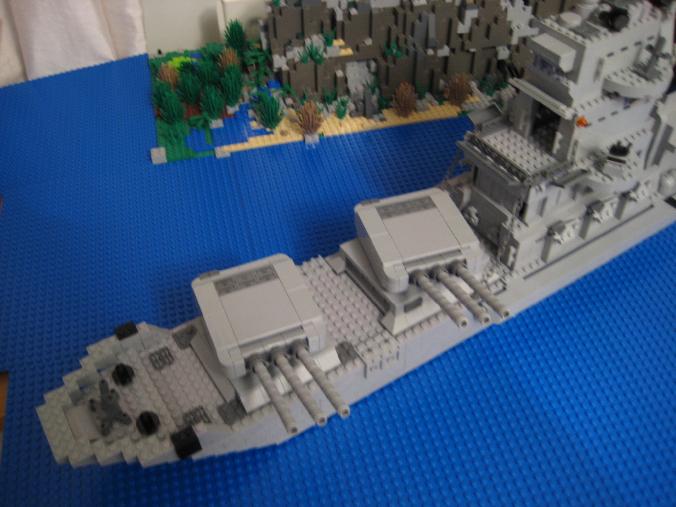 how to build a mini lego battleship