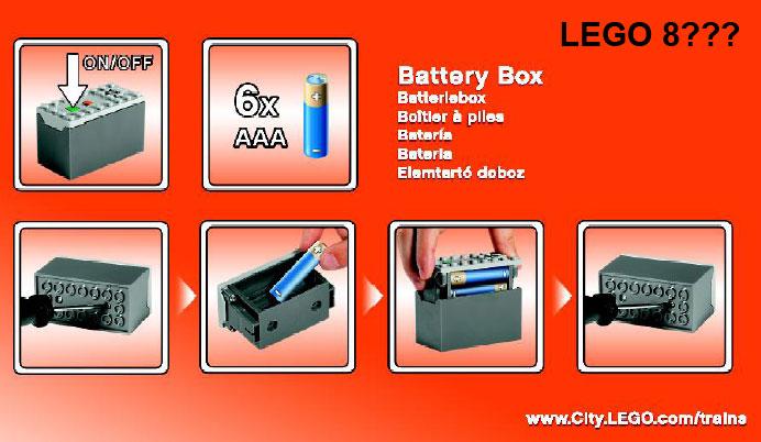 88000 LEGO Power Functions AAA Battery Box