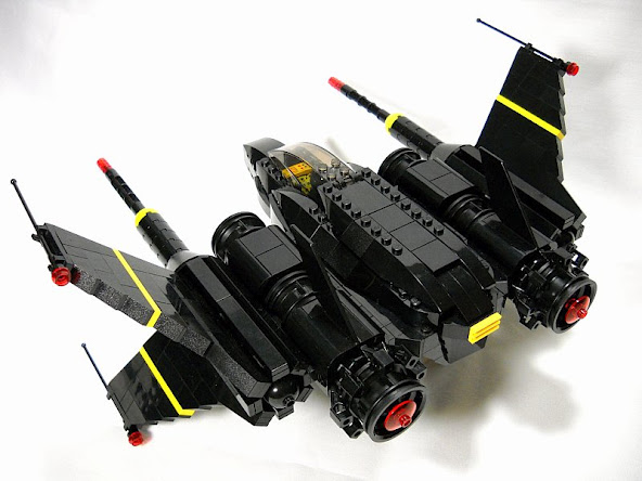 x 1 blacktron space fighter my own creations moc. Black Bedroom Furniture Sets. Home Design Ideas