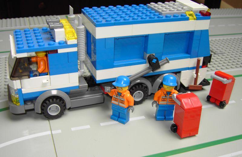 Afficher le sujet moc 7991 camion poubelle - Camion de police lego city ...