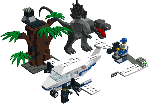 Key topic official lego sets made in ldd page 145 lego digital designer and other digital - Lego dinosaurs spinosaurus ...