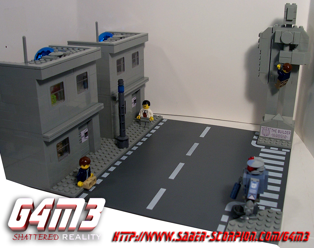 saber scorpion s lair by justin r stebbins lego g4m3 shattered it is a virtual reality simulation that exists in utopia the perfect city of the future in g4m3 the citizens of utopia can experience the opposite of