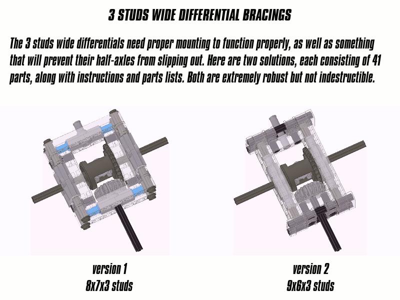 Sariel 3 Studs Wide Differential Bracings
