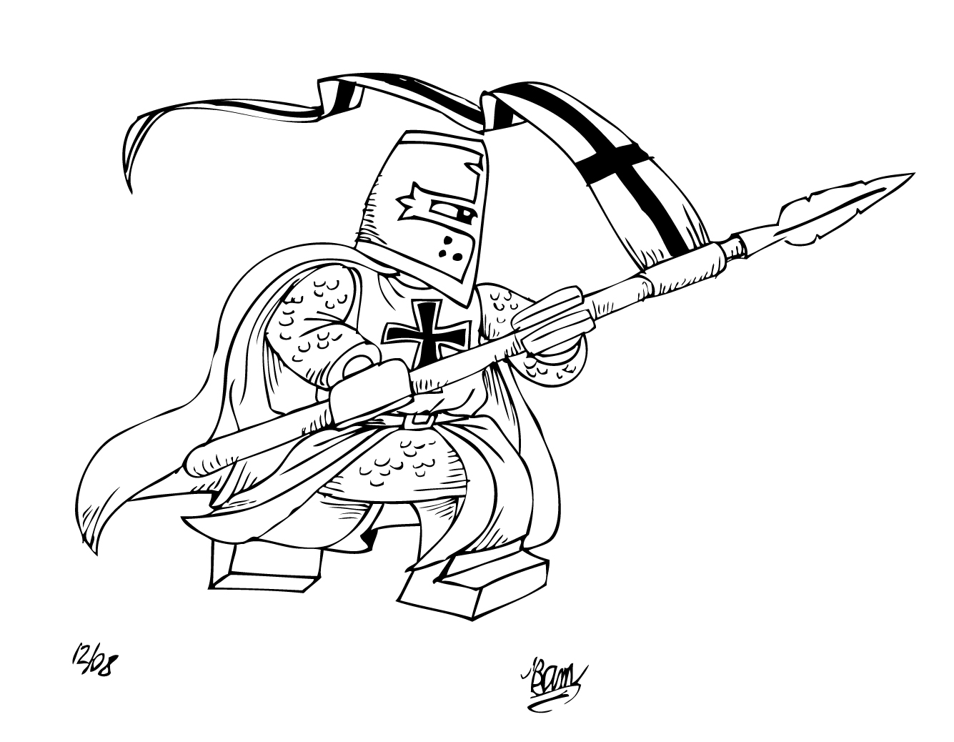 lego knight coloring pages - photo#8