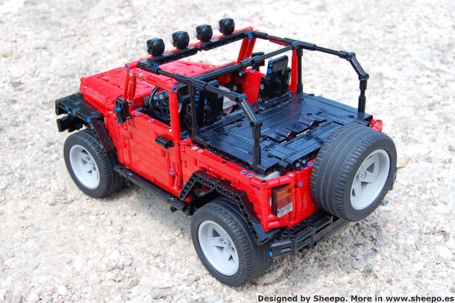 moc jeep wrangler rubicon jk lego technic and model. Black Bedroom Furniture Sets. Home Design Ideas
