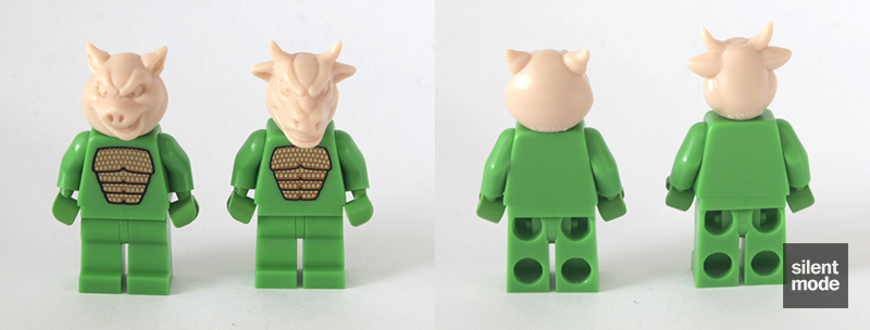 Photo of Pigs vs Cows minifigure heads