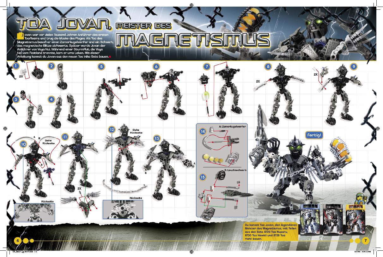 Схемы сборки биониклов