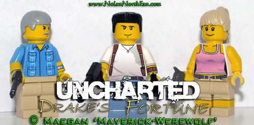 Uncharted: Drake's Fortune custom LEGO minifigs