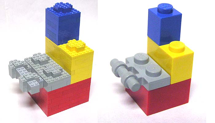 scaled up lego bricks big bricks