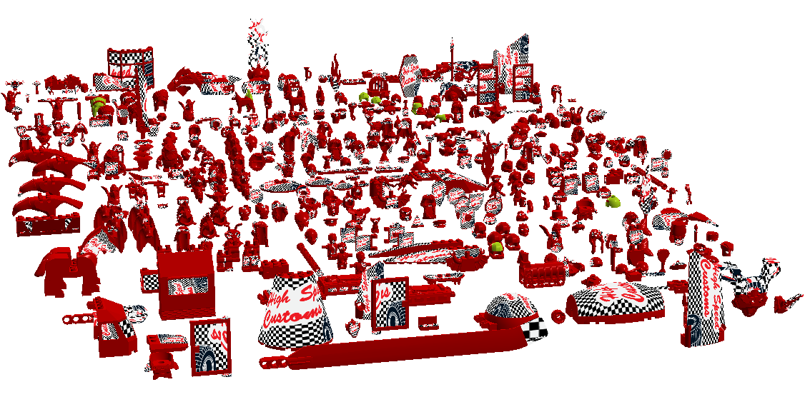 Ldd 500 surfaces of 300 parts lego digital designer and other lddmapfaceslightg pronofoot35fo Images