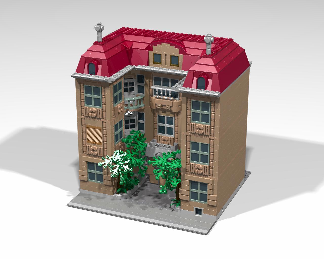 moc modular bishop 39 s palace in debrecen lego town. Black Bedroom Furniture Sets. Home Design Ideas