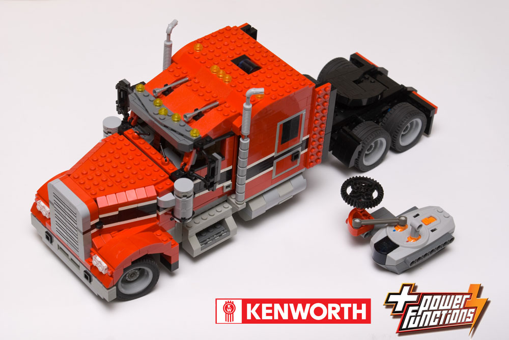 Rc Lego Technic Logging Truck on lego semi dump truck and trailer