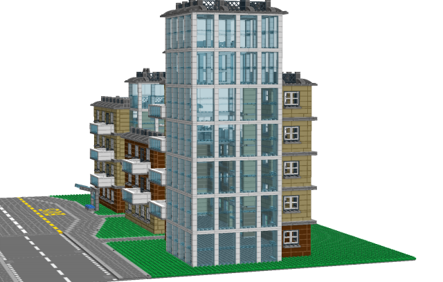 Ldd Moc Apartment Building Lego Town Eurobricks Forums