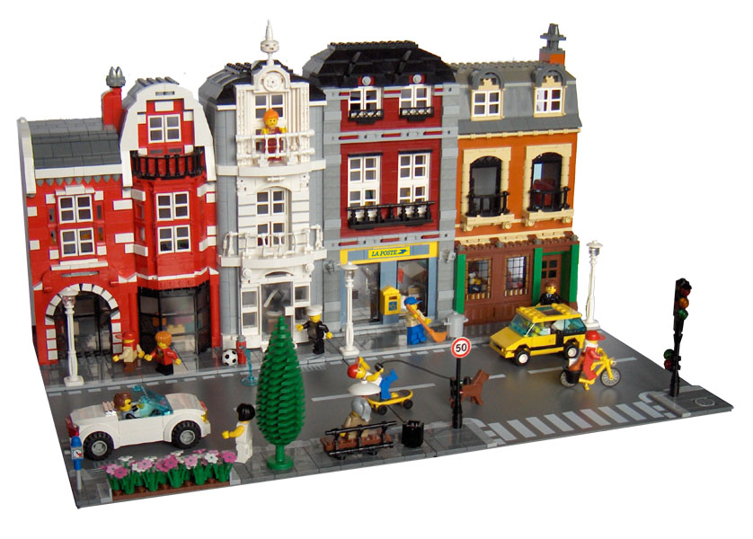 Moc Brown And Grey Modular Buildings Lego Town