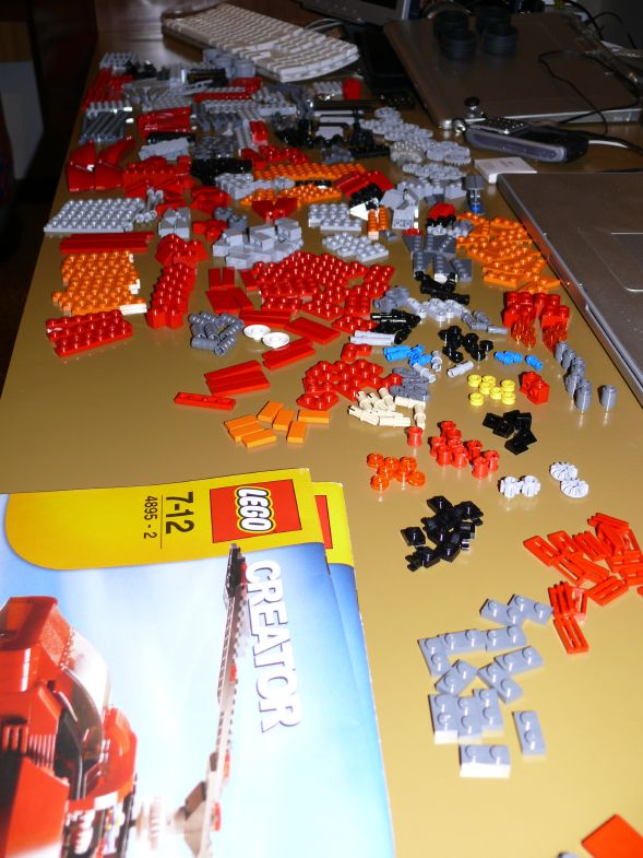 LEGO Helicopter 4895: inventory