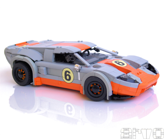 ford gt le mans by arvo the brothers brick the. Black Bedroom Furniture Sets. Home Design Ideas