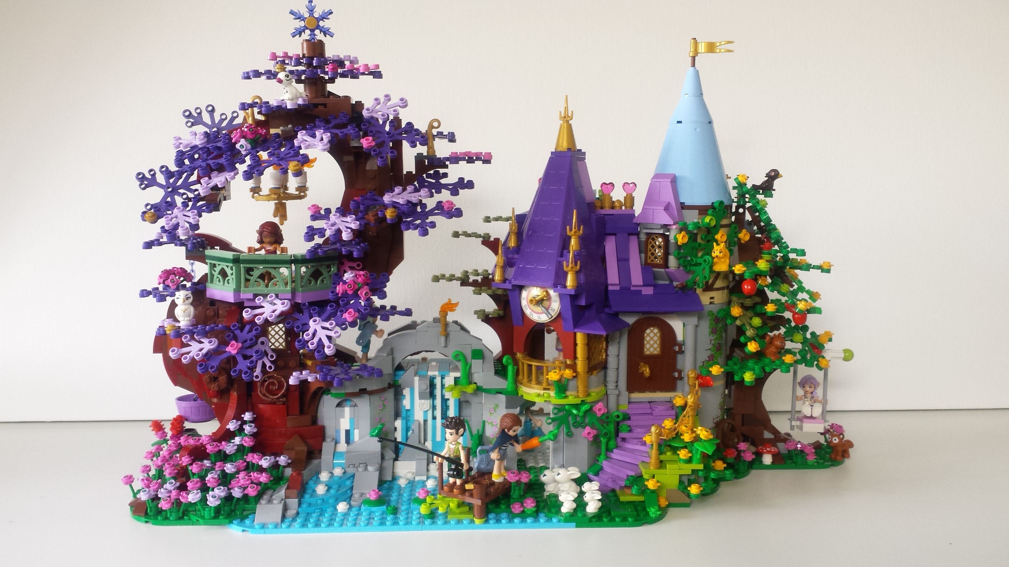 Lego Elves Waterfall Castle Tree Lego Action And